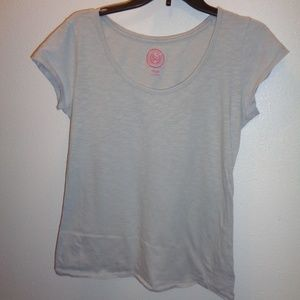niors SO Scoop Neck Top Size L Large Gray